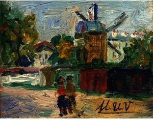 Le Moulin De La Galette At Montmatrtre 1