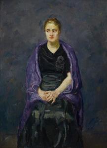 Minna Beckmann-Tube with a Violet Shawl