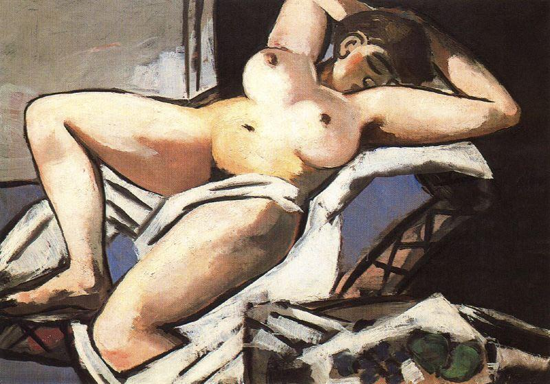 Wikioo.org - The Encyclopedia of Fine Arts - Painting, Artwork by Max Beckmann - Reclining Nude