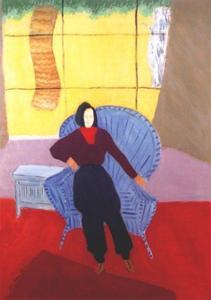 Girl In Wicker Chair