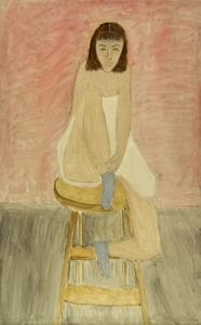 Girl Seated on a Stool