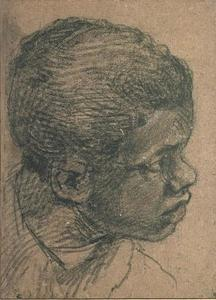 Head of a young black