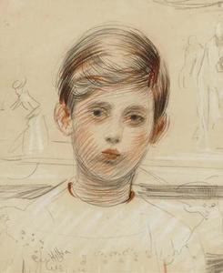 Portrait of Jean Helleu at ten years