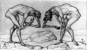 Meeting of two men