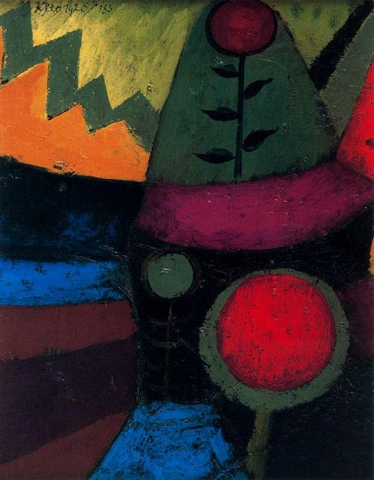 Wikioo.org - The Encyclopedia of Fine Arts - Painting, Artwork by Paul Klee - Three Flowers
