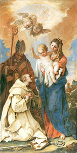 Appearance of Madonna with Child to St Bruno and St Hugo