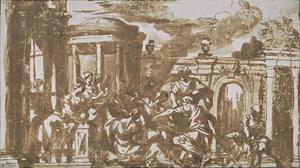 El sacrificio de Polixena, o el descubrimiento de Aquiles a Odiseo en la corte de Lycomedes