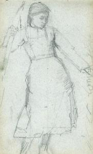 Figure study relating to 'The Shepherdess'