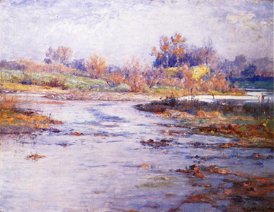 Wikioo.org - The Encyclopedia of Fine Arts - Painting, Artwork by Theodore Clement Steele - Mysterious
