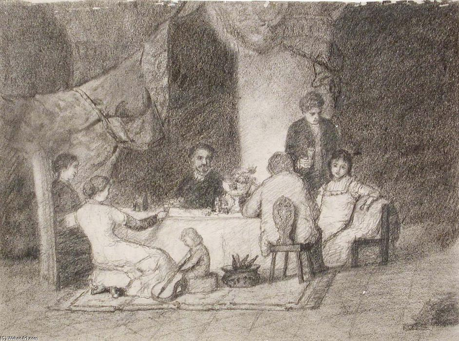 WikiOO.org - Encyclopedia of Fine Arts - Maľba, Artwork Theodore Clement Steele - The Steele Family and Friends