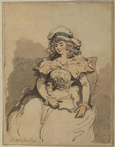Young lady, seated