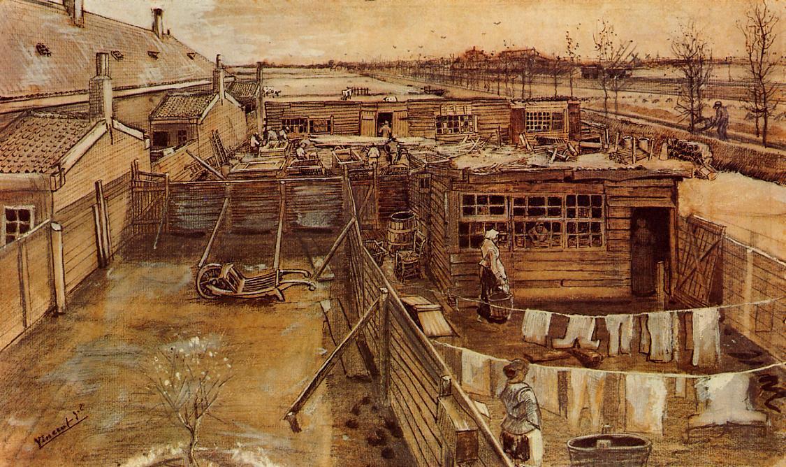 WikiOO.org - Энциклопедия изобразительного искусства - Живопись, Картины  Vincent Van Gogh - Семинар Карпентера видел  из  тем  Студия художника