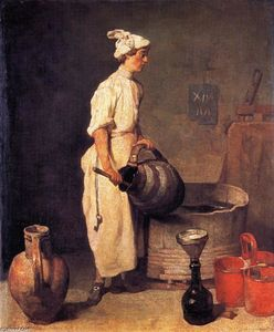 A Cellar Boy Cleaning a Large Jug (also known as The Cellar Boy)
