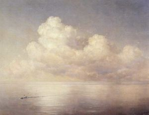 Clouds above a sea, calm