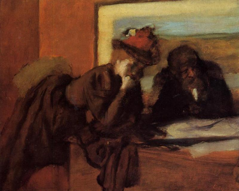 Wikioo.org - The Encyclopedia of Fine Arts - Painting, Artwork by Edgar Degas - Conversation