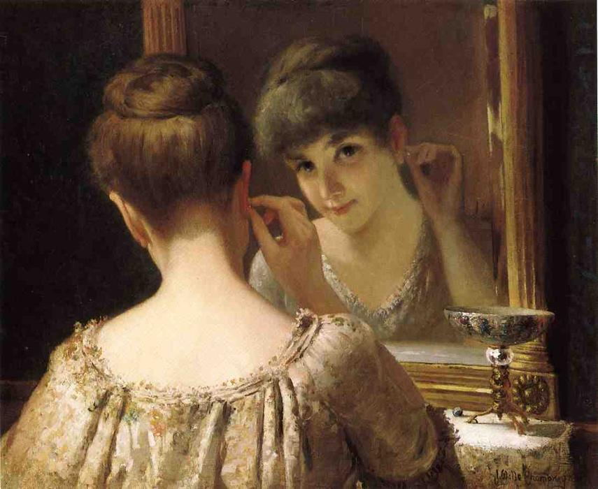 Wikioo.org - The Encyclopedia of Fine Arts - Painting, Artwork by James Wells Champney - The Coquette