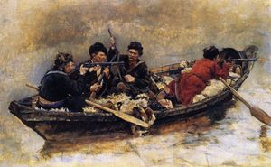 Cossacks in a Boat