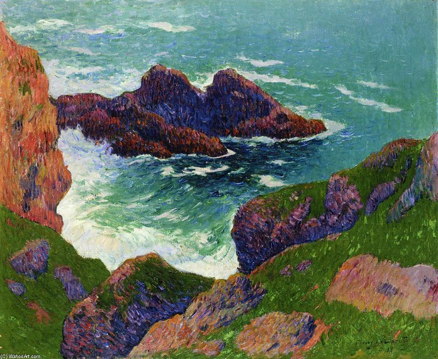 Wikioo.org – La Enciclopedia de las Bellas Artes - Pintura, Obras de arte de Henri Moret - Côte du Large