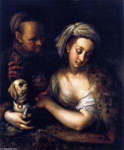 Una cortesana con Ella alcahueta