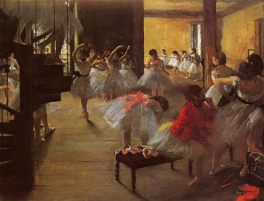 Wikioo.org - The Encyclopedia of Fine Arts - Painting, Artwork by Edgar Degas - The Dance Class