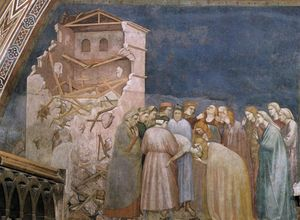 la morte di il ragazzo a sessa ( Transetto settentrionale , bassa chiesa , san francesco , Assisi )