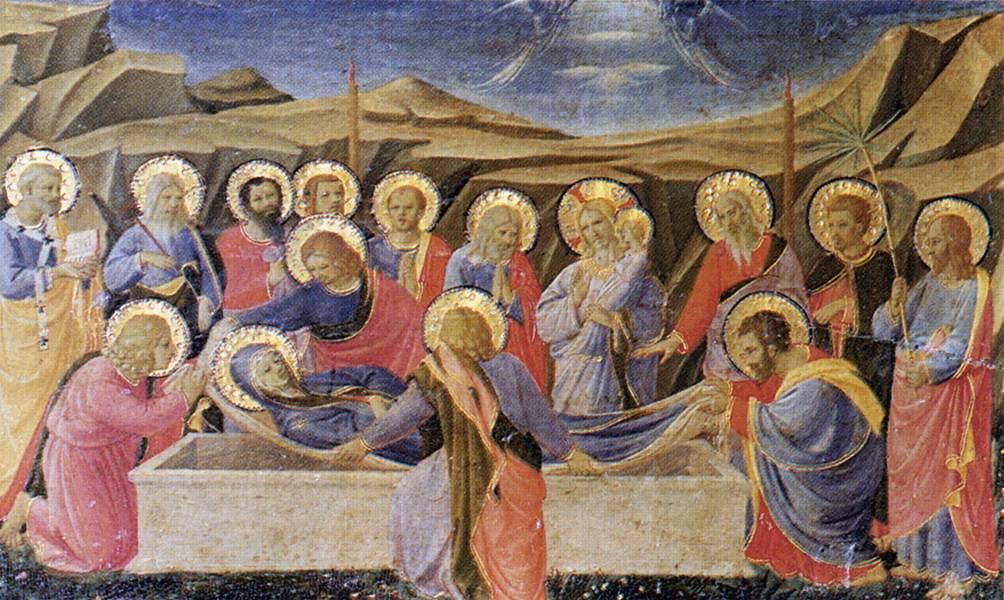 WikiOO.org - Enciklopedija dailės - Tapyba, meno kuriniai Fra Angelico - Death of the Virgin (The Cortona Altarpiece)