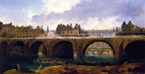Demilishing the Buildings on the Pont Notre-Dame in Paris, 1786