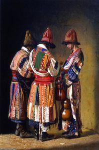 Dervishes in Festive Clothes, Tashkent, Uzbekistan