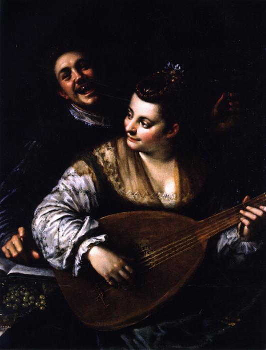 Wikioo.org - The Encyclopedia of Fine Arts - Painting, Artwork by Hans Von Aachen - Donna Venusta