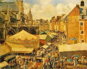 The Fair in Dieppe: Sunny Morning
