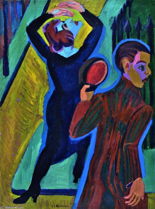 Wikioo.org - The Encyclopedia of Fine Arts - Painting, Artwork by Ernst Ludwig Kirchner - Farewell