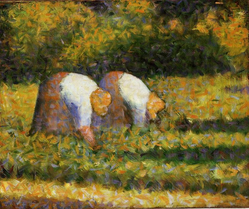 WikiOO.org - Энциклопедия изобразительного искусства - Живопись, Картины  Georges Pierre Seurat - аграрный среди женщин  года в  работать