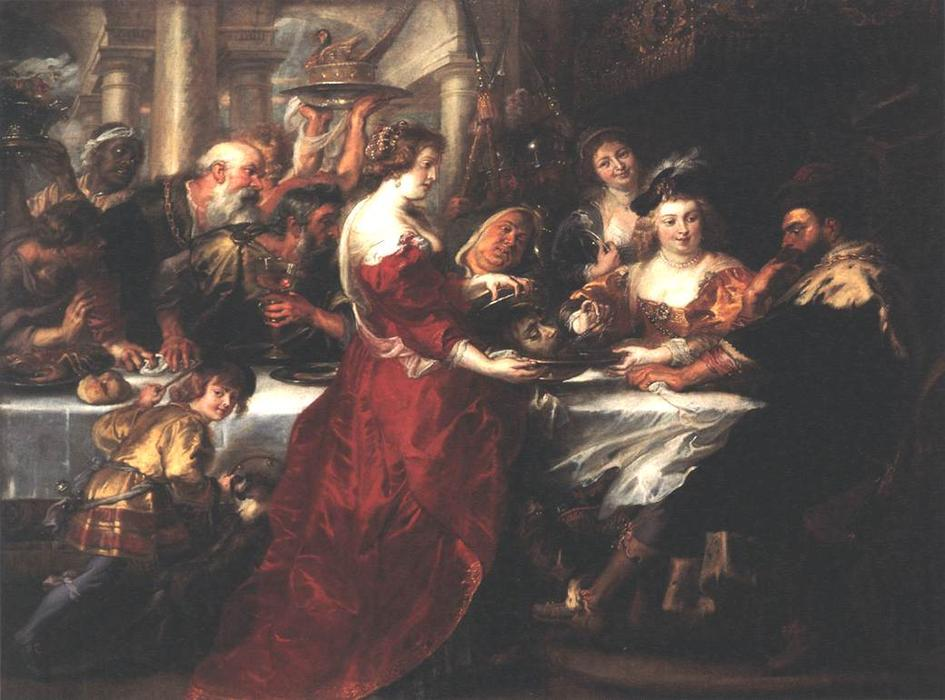 WikiOO.org - Енциклопедія образотворчого мистецтва - Живопис, Картини  Peter Paul Rubens - The Feast of Herod