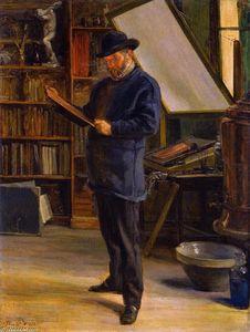 Felix Bracquemond in His Studio