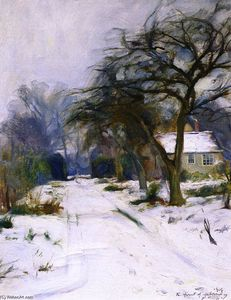 The First of February, The Driveway at Littleworth Corner in the Snow