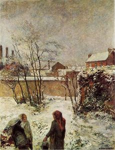 The Garden in Winter, rue Carcel (also known as Snow, Rue Carcel II)