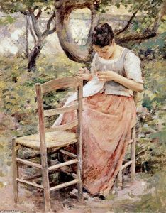 Girl Sewing (also known as The Layette or The Seamstress)