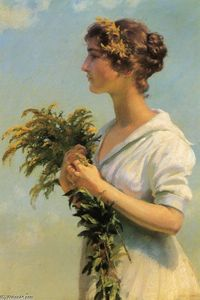 Girl with Goldenrod