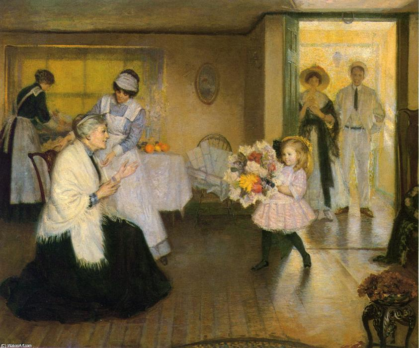 Wikioo.org - The Encyclopedia of Fine Arts - Painting, Artwork by Philip Leslie Hale - Grandmother's Birthday
