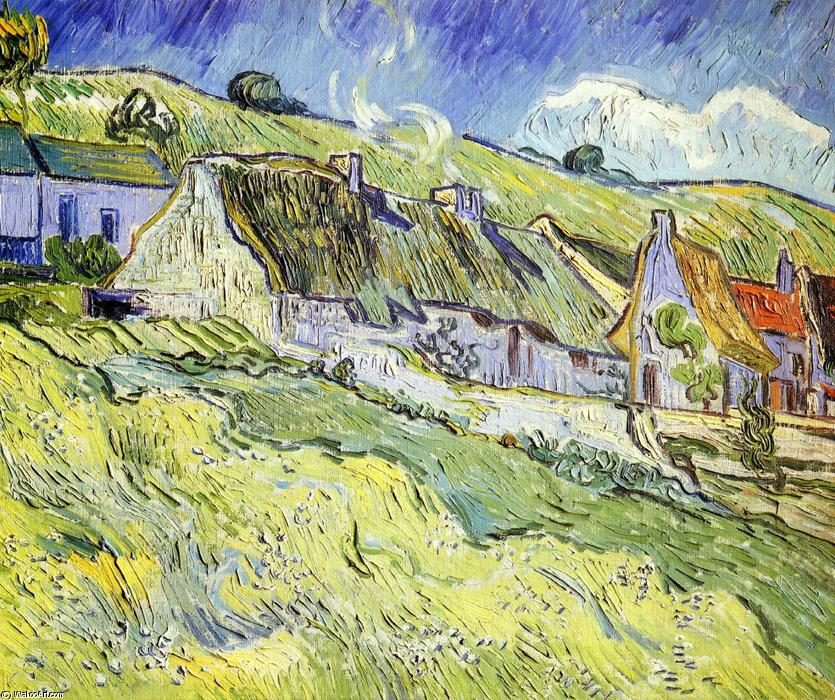 Wikioo.org - The Encyclopedia of Fine Arts - Painting, Artwork by Vincent Van Gogh - A Group of Cottages