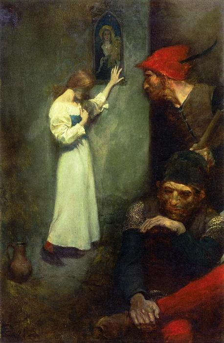 Wikioo.org - The Encyclopedia of Fine Arts - Painting, Artwork by Howard Pyle - Guarded by Rough English Soldiers