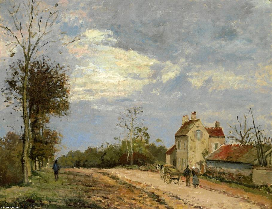 Wikioo.org - The Encyclopedia of Fine Arts - Painting, Artwork by Camille Pissarro - The House of Monsieur Musy, Route de Marly, Louveciennes
