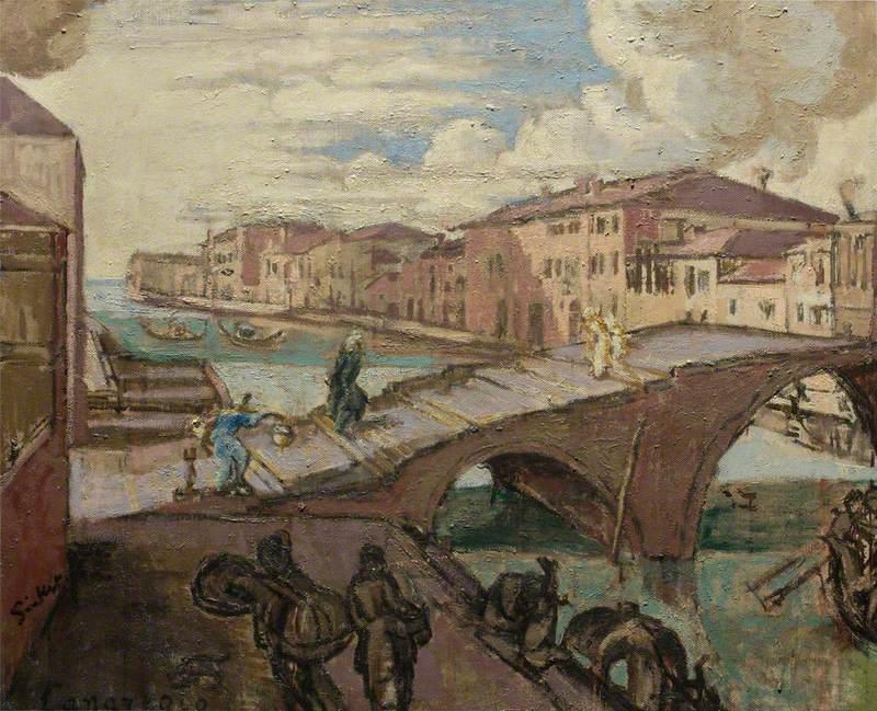 Wikoo.org - موسوعة الفنون الجميلة - اللوحة، العمل الفني Walter Richard Sickert - Il Cannaregio, Venezia