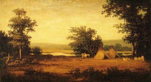 Indian Encampment on the James River, North Dakota