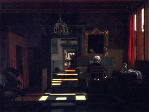 Interior with a Lady Playing the Virginal
