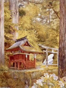 Japanese Pagoda in the Woods
