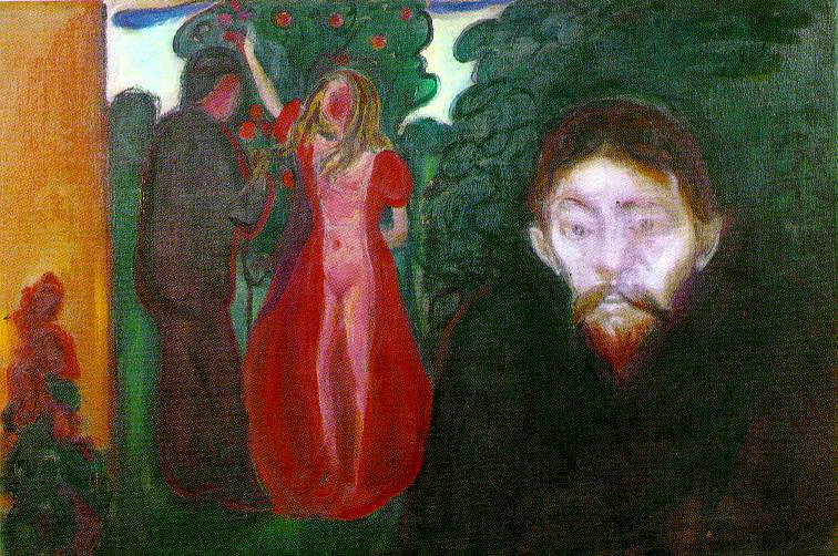 Wikioo.org - The Encyclopedia of Fine Arts - Painting, Artwork by Edvard Munch - Jealousy