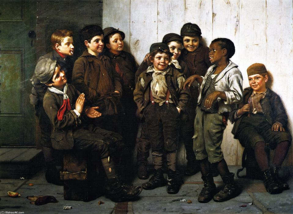 Wikioo.org - The Encyclopedia of Fine Arts - Painting, Artwork by John George Brown - A Jolly Lot