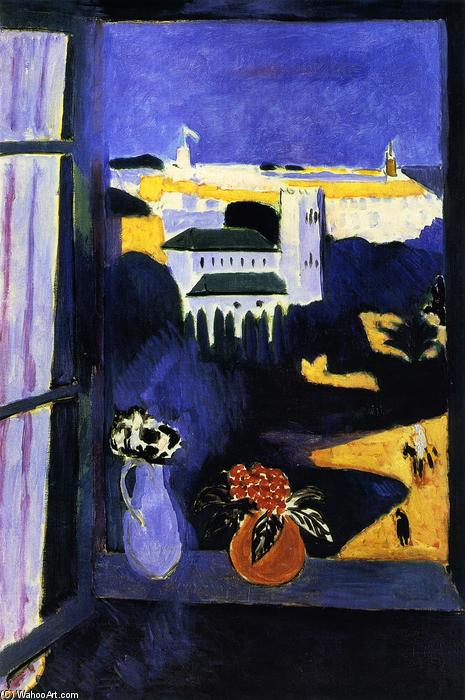 Wikioo.org - The Encyclopedia of Fine Arts - Painting, Artwork by Henri Matisse - Landscape viewed from a Window