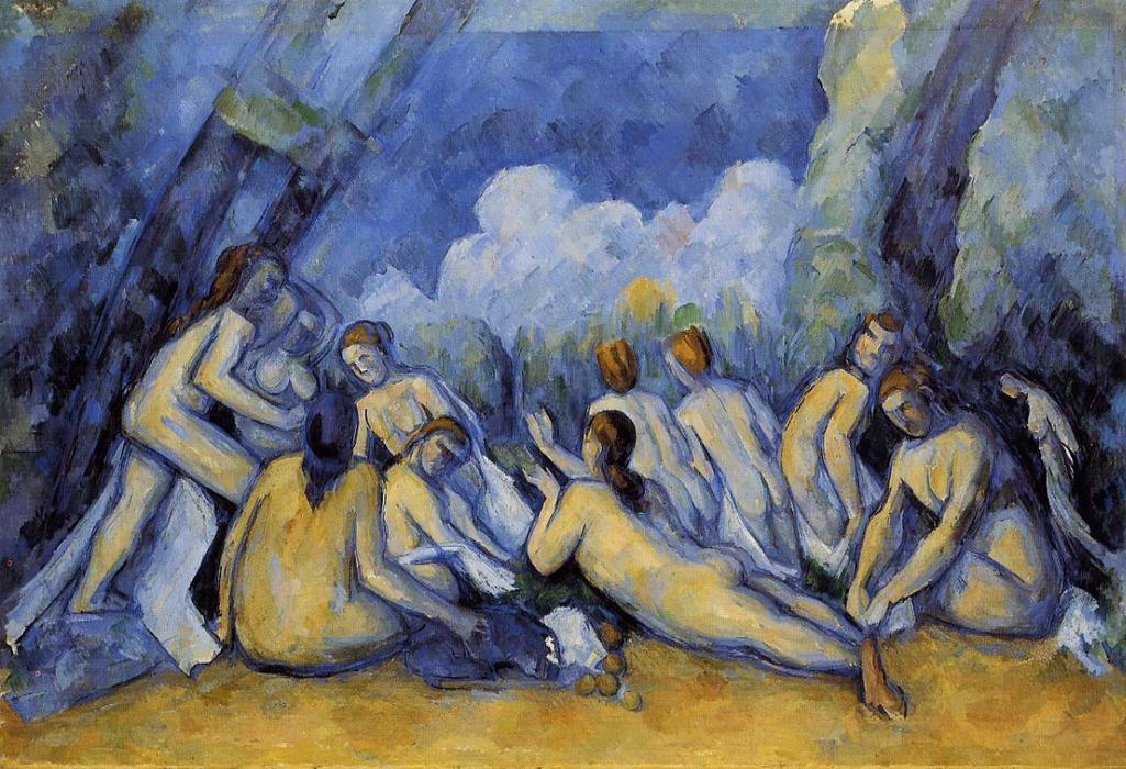 Wikioo.org - The Encyclopedia of Fine Arts - Painting, Artwork by Paul Cezanne - The Large Bathers